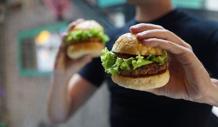 hamburger, vegaburger, vega, vegan, vegetarisch, vegetarische burger, schnitzel, kip, vis, biet, soja, lekker, eten,